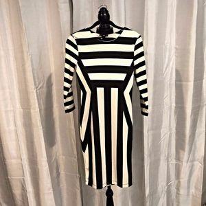 H&M Colorblock Black & White Mod Dress